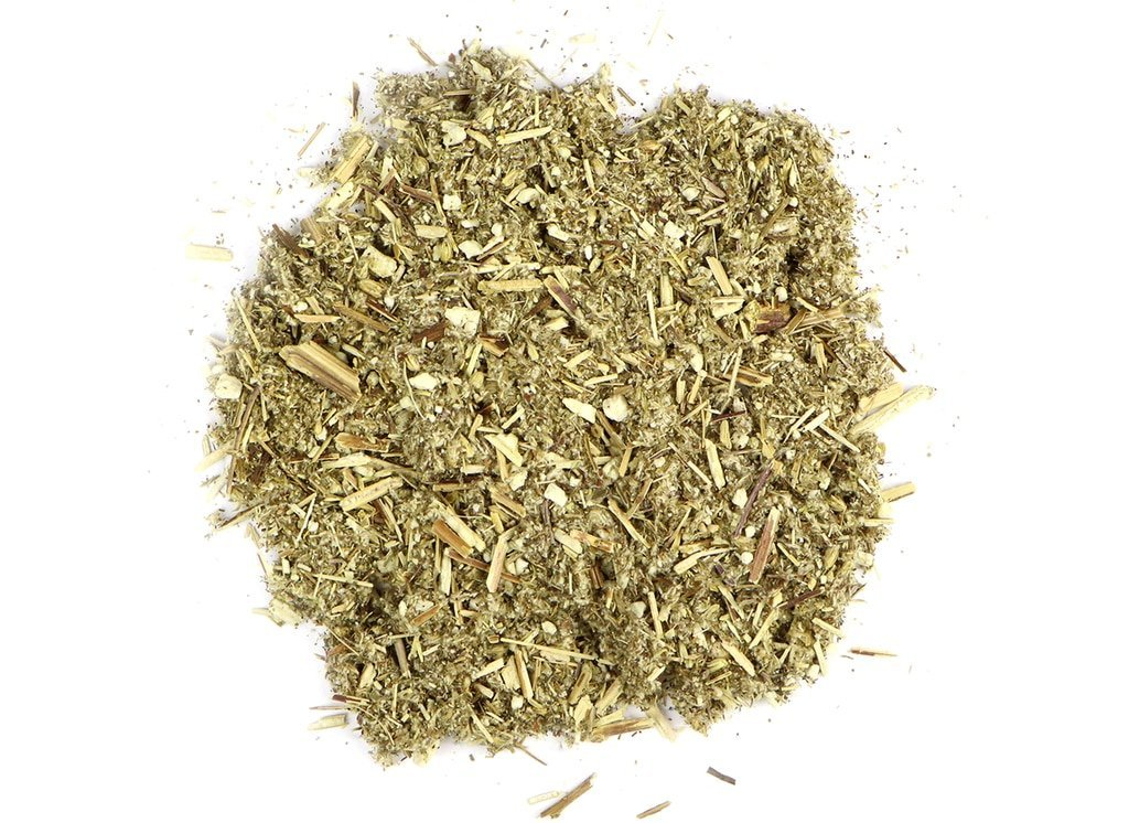 small pile of mugwort herb from mountain rose herbs