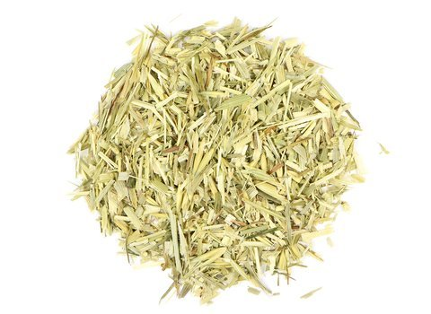 Small pile of loose leaf Oatstraw herbs from Mountain Rose Herbs