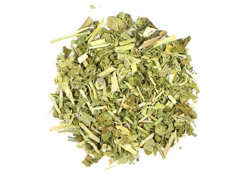 Small pile of loose leaf Passionflower herbs from Mountain Rose Herbs