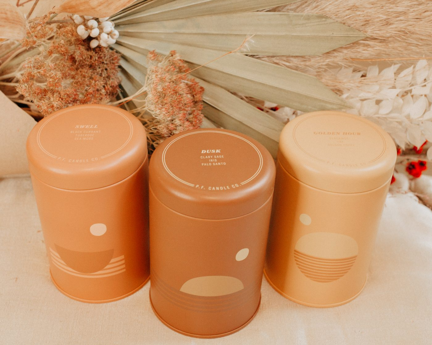 photo of 3 PF Candle Co Soy candles