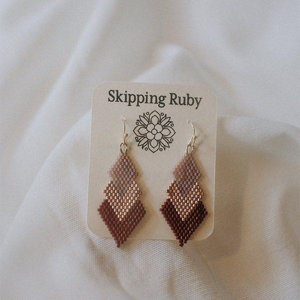 pink-triple-diamond-earrings