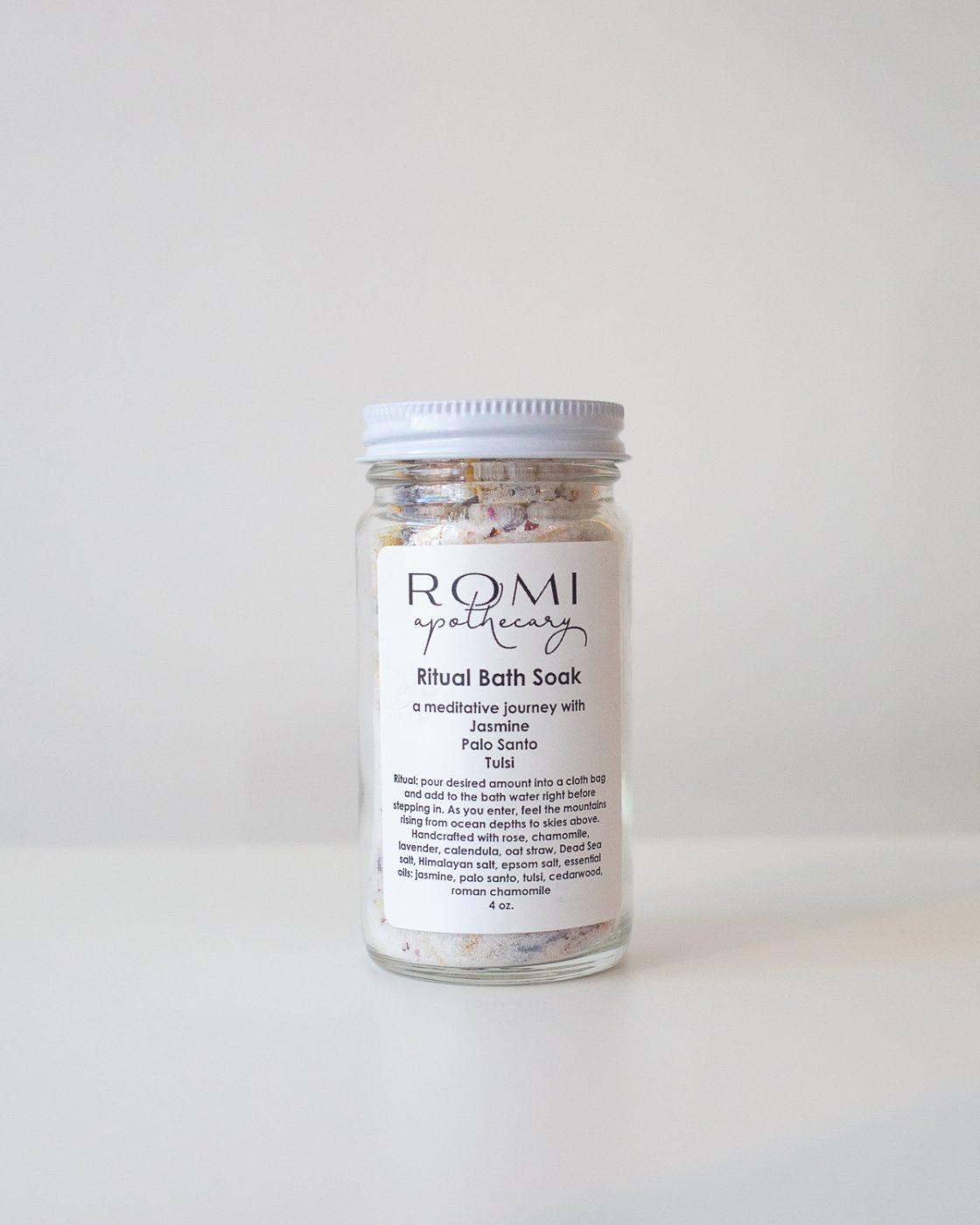 Ritual Bath Soak salts from Romi Apothecary made in Minneapolis, MN