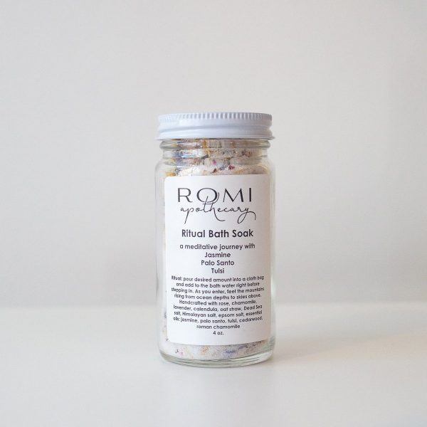 Ritual Bath Soak salts from Romi Apothecary made in Minneapolis, MN