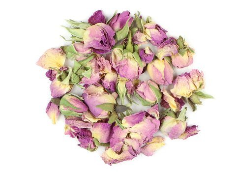 Small pile of loose leaf Rose Buds from Mountain Rose Herbs