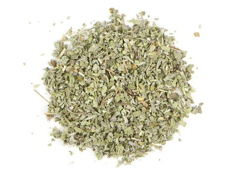 Small pile of loose leaf Sage herbs from Mountain Rose Herbs
