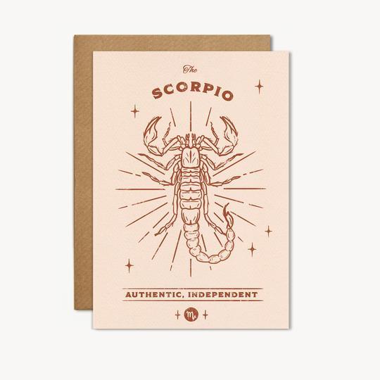 scorpio zodiac birthday card