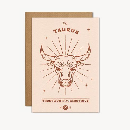 taurus zodiac birthday card