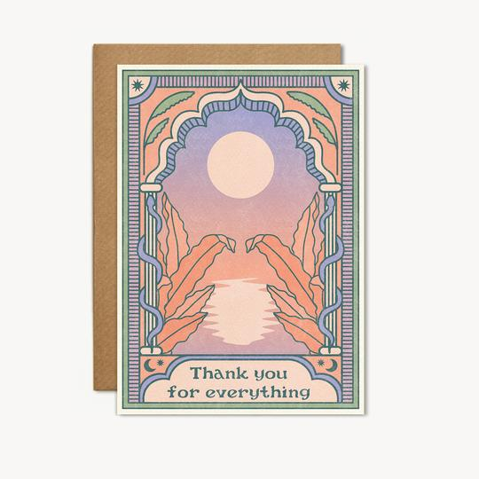 thank you for everything card by cai + jo