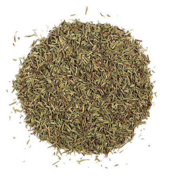 small pile of thyme from mountain rose herbs