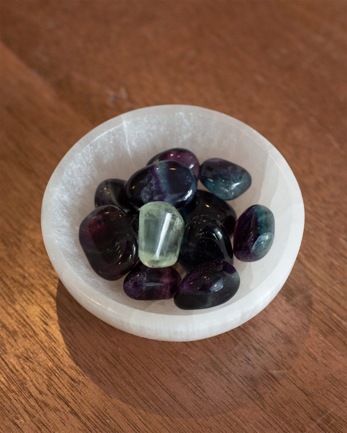 Tumbled Fluorite stones