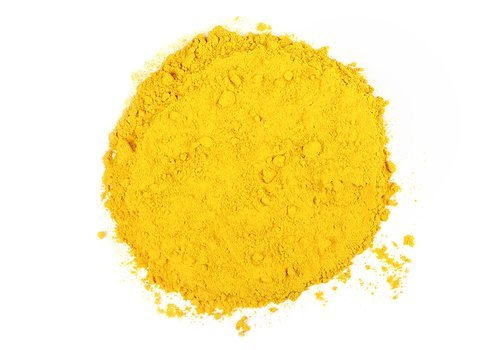 Small pile of loose leaf Turmeric Powder from Mountain Rose Herbs