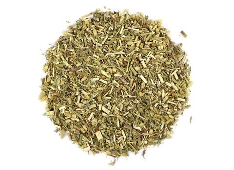 Small pile of loose leaf Yarrow herbs from Mountain Rose Herbs